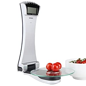 Duronic KS4000 Wall Mounted Digital Display 3KG Kitchen Scales with 2 Years FREE Warranty from Duronic