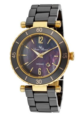 Lucien Piccard Women's LP-10222-BKBGA La Tournette Black Mother-Of-Pearl Dial Black Ceramic Watch