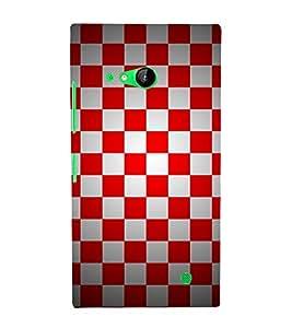 Chess Board Checks 3D Hard Polycarbonate Designer Back Case Cover for Nokia Lumia 730 :: Microsoft Lumia 730 :: Microsoft Lumia 735
