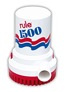 Rule 1500 GPH Non-Automatic Bilge Pump by Rule