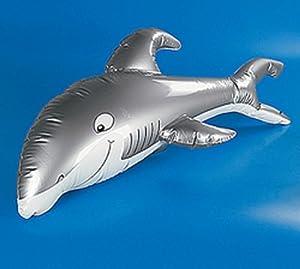 Jumbo Inflatable Shark Beach Luau Pool Party Toy 4 Ft.