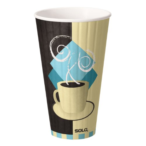 Solo IC24-J7534 Duo Shield Insulated Paper Hot Cup, 24 oz Capacity, Tuscan Cafe (Case of 500)