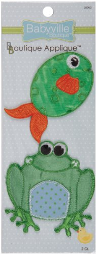 Babyville Boutique Appliques, Frog And Fish, 2 Count front-74477