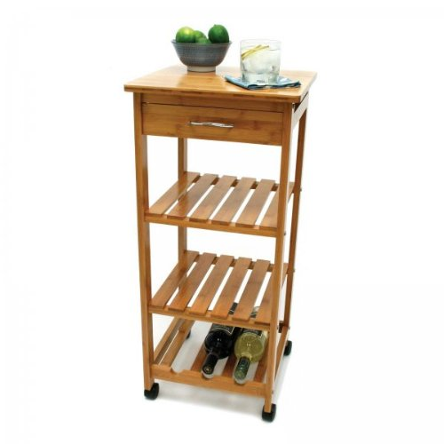Lipper International Bamboo Kitchen Trolley