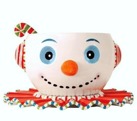 Glitterville Huge Christmas Snowman Punch Bowl, Tray & Ladle, 3-piece Set (Huge Punch Bowl compare prices)