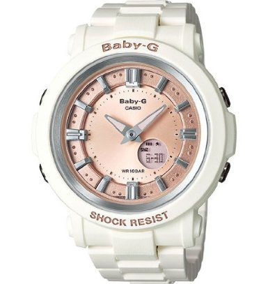 Casio Women'S Bga300-7A2 Baby G White And Rose Gold Watch front-769761