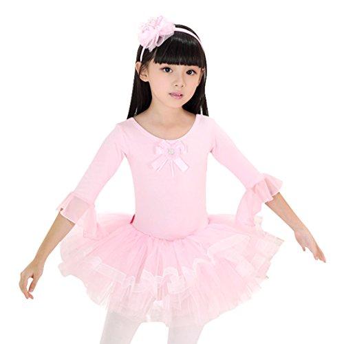 Geschenk-Idee! Lotusleaf Sleeved Ballett-Ballettröckchen -Kleid, Mädchen Größe 4-8 , Preis / Stück