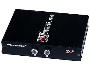 Monoprice 102786 2X1 Manual HDMI Switch-Push Button Type