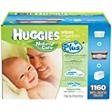 Huggies Natural Care Plus Wipes 1120ct