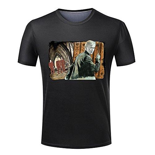 Harry Potter Vintage Printed Mens Black T-shirt L