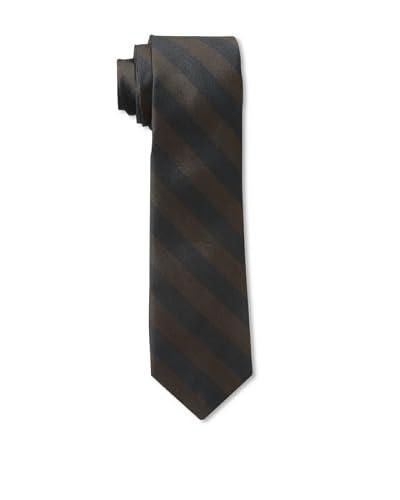 Gitman Men's Stripe Tie, Brown, One Size