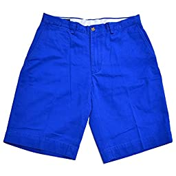 Polo Ralph Lauren Flat Front Chino Short (34, Grotto Blue)
