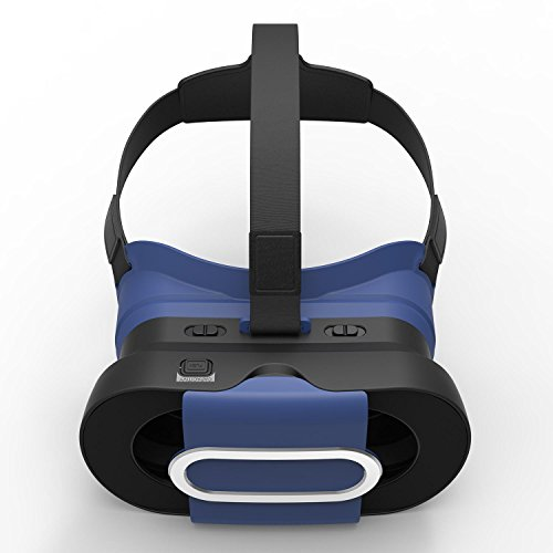 KOBWA 3D VR Headset, Foldable Lightweight Virtual Reality 3D Goggles Portable Video Movie Game VR Box with Protective Case Compatible for IPhone,SamsungHUWEI,XIAOMI and Other 4.7''-6.0'' Smart Phones