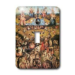 3dRose LLC lsp_130134_1 Garden of Earthly Delights By Hieronymus Bosch Single Toggle Switch