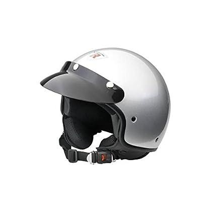 Bottari Moto 64228 Casque Rock, Gris/Argent, Taille : S