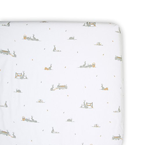 The Little Linen Company - Crib/Cot Fitted Sheet - Cotton Tail