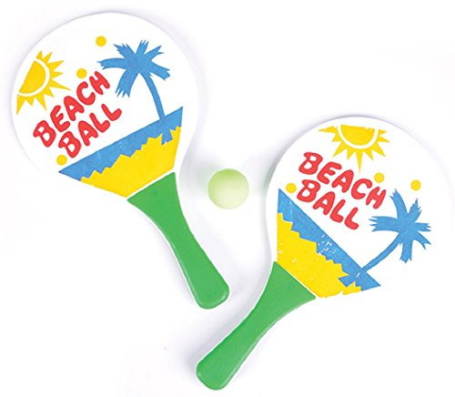 Beach Ball Paddleball Set