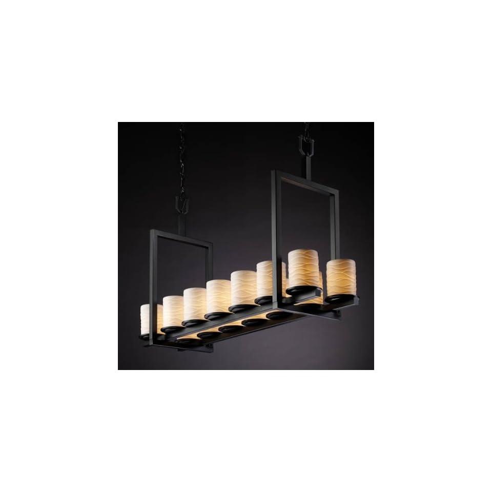 Justice Design Group POR 8769 MBLK Matte Black Limoges Dakota 14 Light