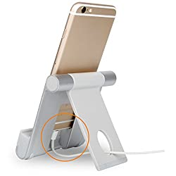 Imported Universal Phone Tablet Aluminum Alloy Desktop Stand Mount Holder -Silver
