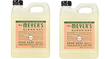 Mrs. Meyer's Clean Day Liquid Hand Soap Refill, Geranium, 33 fl oz - 2 Pack