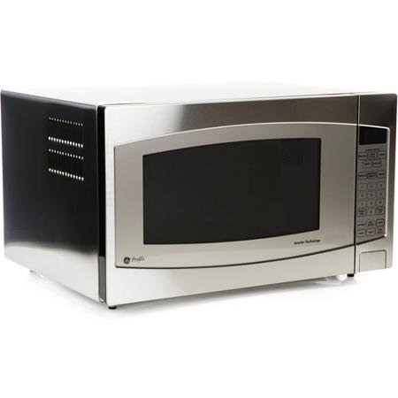 GE Profile 2.2 Cu. Ft. Countertop Microwave Oven, Silver (Small Powerful Microwave Oven compare prices)