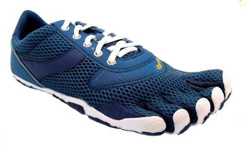 Men's M336 Speed Vibram Five Fingers Blue Lace Up Barefoot Running Trainers