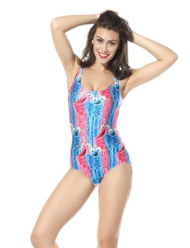 Ndb Special Cartoon Print One Piece Swimsuit Swimwear Beach Cloth