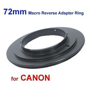 deep-deal Bague d'inversion macro 72mm pour CANON EOS