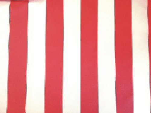 Waterproof Outdoor Canvas Stripes Red and White 60 Inch Wide Fabric By the Yard from The Fabric Exchange ® (Outdoor Fabric Red compare prices)
