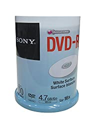Sony DVD (Printable Blank White Surface) Pack of 100(Jar Pack) 100DMR47WP