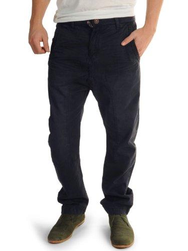 Khujo Chino Trousers (32-34, navy)