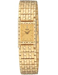 Seiko Women's SXG372 Dress Gold-Tone Watch