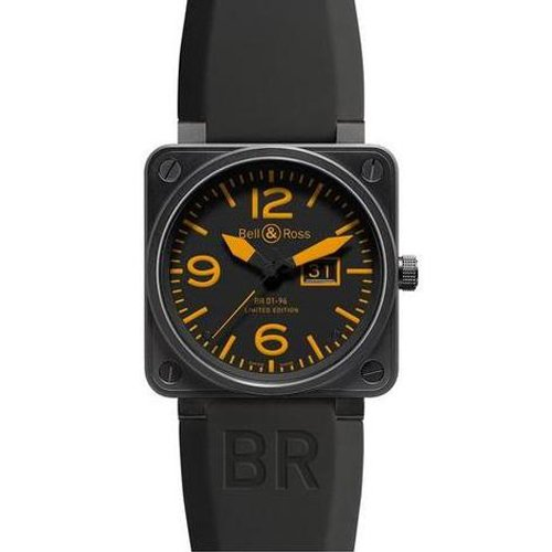 Bell & Ross BR0196ORA Automatic Stainless Steel Case Black Rubber Anti-Reflective Sapphire Men's Watch