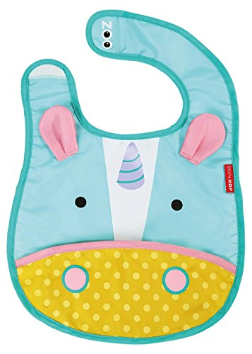 Skip-Hop-Zoo-Little-Kid-and-Toddler-Tuck-Away-Water-Resistant-Baby-Bib-Multi-Eureka-Unicorn