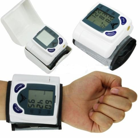 Digital LCD Wrist Blood Pressure Monitor & Heart Beat Rate Pulse Meter Measure by Youngstore (Cotton Blood Pressure Cuff compare prices)