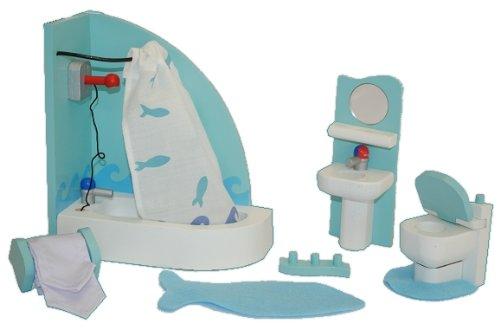 set badezimmer mit badewanne und toilette holz f r biegepuppen schrank m bel puppenstubenm bel. Black Bedroom Furniture Sets. Home Design Ideas