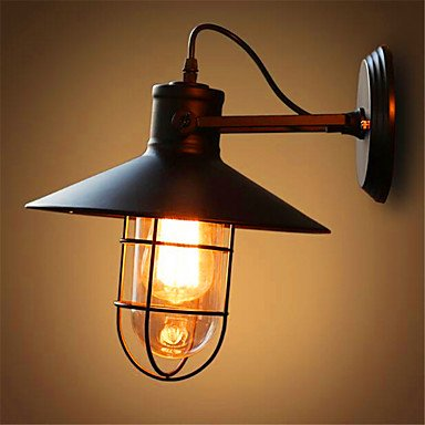 KMDJ American Bar Iron Wall Loft Retro Industrial Bedroom Bedside Outdoor Lamp Mirror Glass Lamp , 220-240v