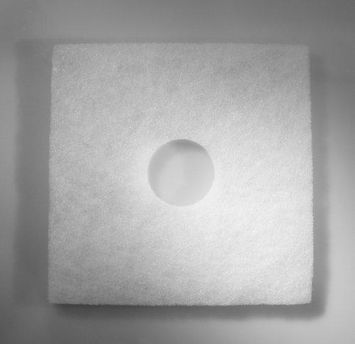 5 x Ersatzfilter 162x162 mm für Helios ELF ELSN | für Helios Ventilatoren ELS-VE ... 60/100 | Lochdurchmesser 42 mm | Verpackung wiederverschliessbar