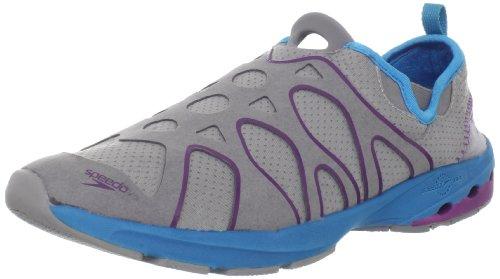 Speedo Women's Hydro Comfort 2.0 Water Shoe,Charcoal/Teal,8