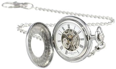 Charles-Hubert Pocket Watch 3565 Stainless Steel Half Hunter
