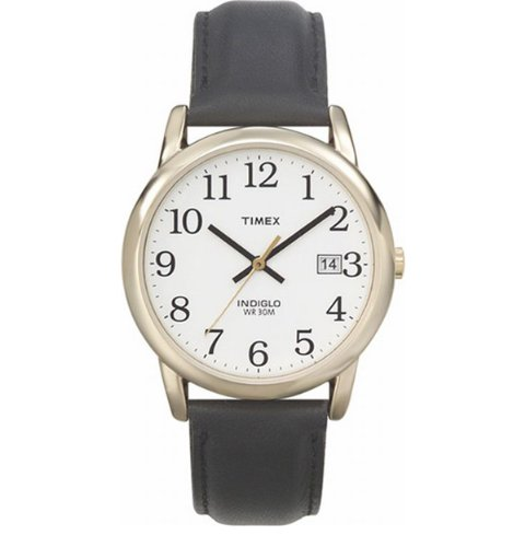 Timex Indiglo Watch Gold With Leather Band