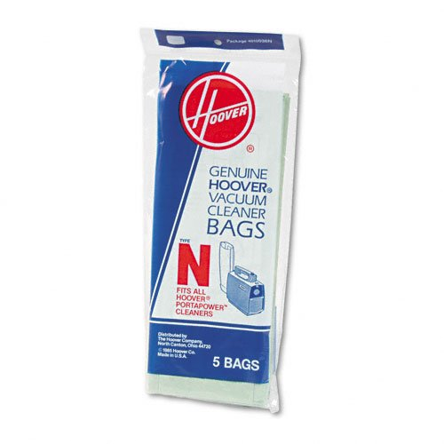 Hoover Products - Hoover - Commercial Portapower Vacuum Cleaner Bags, 5/Pack - Sold As 1 Pack - Hoover disposable bag for Commercial PortapowerTM vacuum cleaner. - Allows you to dispose of used bags quickly and easily. -