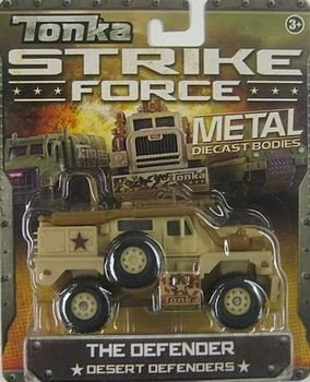 Tonka Strike Force Metal Diecast Bodies. The Defender. Desert Defenders. 1:55 Scale.