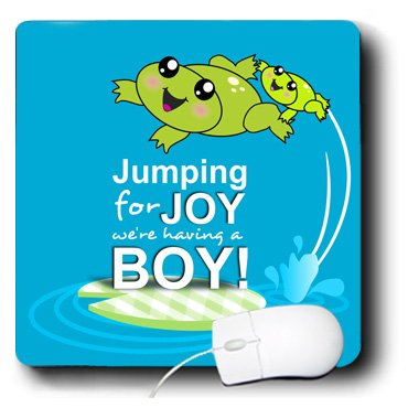 3Drose 8 X 8 X 0.25 Inches Mouse Pad, Jumping For Joy Having A Boy (Mp_120313_1) front-236591