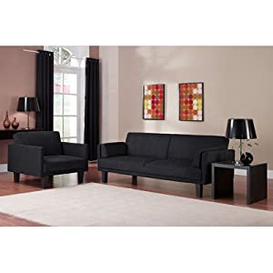 Metro Microfiber Living Room Collection Color: Chocolate Brown