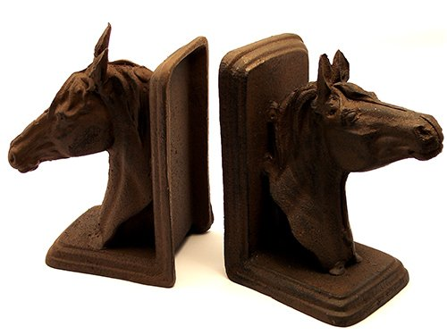 Cast Iron Horse Head Bookends