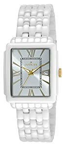 Invicta 14582 Womens Ceramic Rectangualr Quartz Bracelet Watch