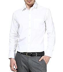 Dazzio Men's Slim Fit Cotton Casual Shirt (DZSH0083_Grey_42)
