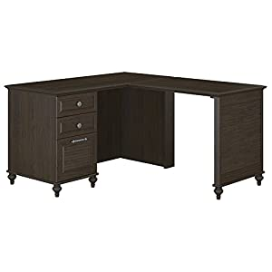 Kathy Ireland Office By Bush Furniture Aloha Single Pedestal L Desk Bbf Collection Kona Coast