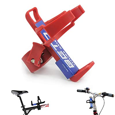 BETO Adjustable Bike Bicycle MTB Water Bottle Holder Water Bottle Rack Cage Red